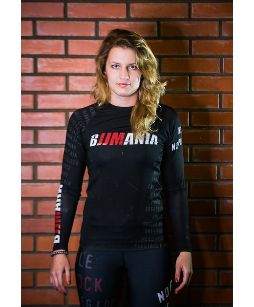 RASHGUARD BJJMANIA (black, long sleeve)