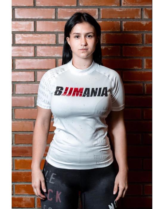 RASHGUARD BJJMANIA (white, short sleeve)