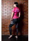 RASHGUARD BJJMANIA (pink, short sleeve)