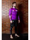 РАШГАРД BJJMANIA (пурпурный, длинный рукав)