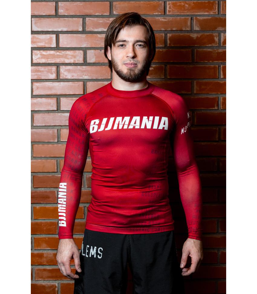 RASHGUARD BJJMANIA (red, long sleeve)