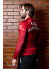РАШГАРД BJJMANIA (красный, длинный рукав)