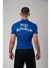 RASHGUARD BJJMANIA (blue, short sleeve)