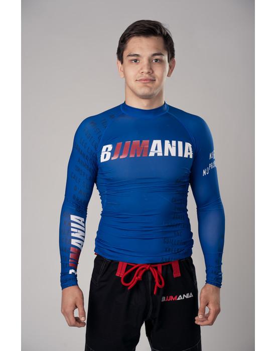 RASHGUARD BJJMANIA (blue, long sleeve)