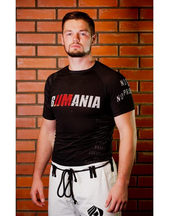 RASHGUARD BJJMANIA (black, short sleeve)